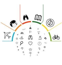 Infographics navigation vector