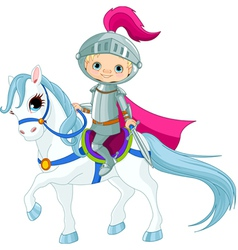 Knight on horse vector