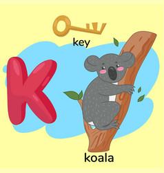 Letter k child s alphabet graphics vector