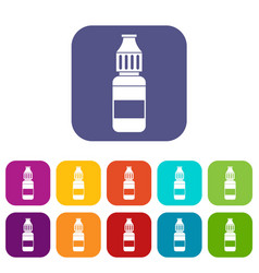 liquid for electronic cigarettes icons set vector image