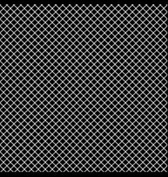 mesh pixel ornament black seamless pattern vector image