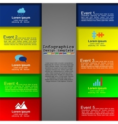 Modern infographics design template vector image vector image