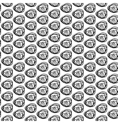 Monochrome seamless pattern with hand drawn vector image