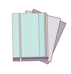 Office diary with multiple sheets vector