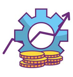Online stock exchange vector