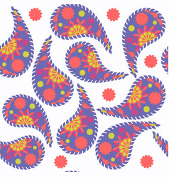 paisley seamless pattern it is located in swatch vector image
