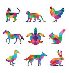 pet low poly design vector image