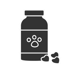pet medicine glyph icon vector image
