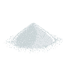 Powder heap gray and white powdered milk vector