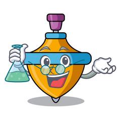 Professor spinning top character cartoon vector