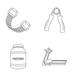 protein expander and other equipment for training vector image