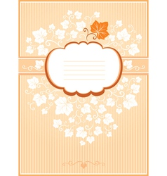 Pumpkin card vector image