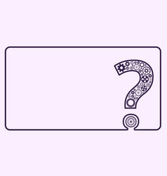 question mark from gears vector image