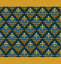 Seamless golden squares knitting wallpaper vector
