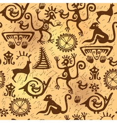 Seamless pattern ancient old vector image