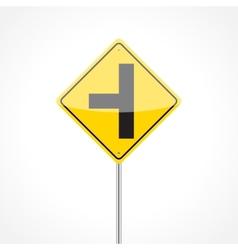 Side Road Sign vector image