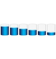 Six beakers vector