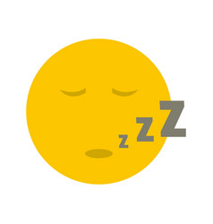 Sleep smile icon flat vector