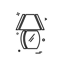 table lamp icon design vector image