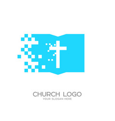 The cross of jesus christ and the holy scripture vector