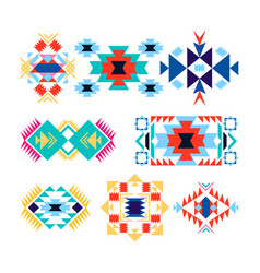 tribal geometric logo set american indian-ornate vector image