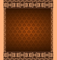 vintage border background and corner vector image