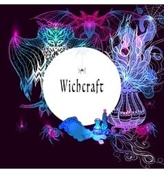 Vintage Witchcraft Frame vector