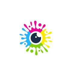 Vision paint logo icon design vector