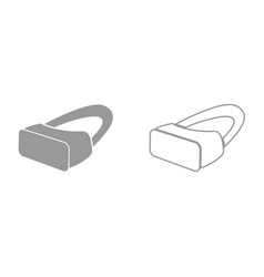 vr glasses it is black icon vector image