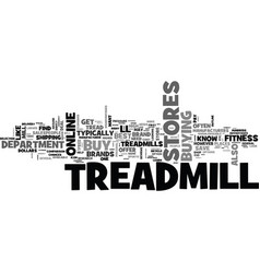 Where to buy a treadmill text word cloud concept vector