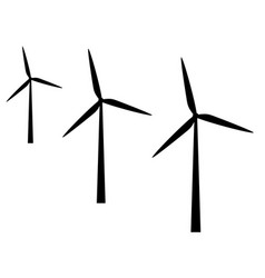 Wind mills on white background vector