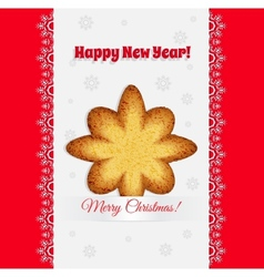 Christmas cookies in the shape of a star vector image vector image