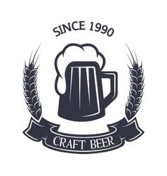 Craft brewing Vintage emblem vector image