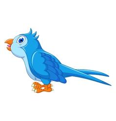 Cute blue bird cartoon vector