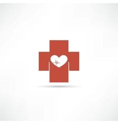 health icon vector image vector image