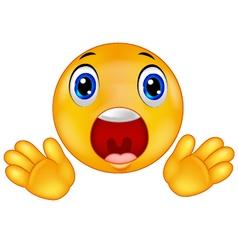 Smiley emoticon surprised vector image vector image