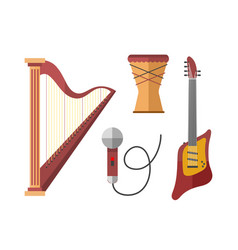 stringed musical instruments classical harp vector image