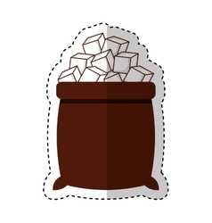 sugar bags isolated icon vector image vector image