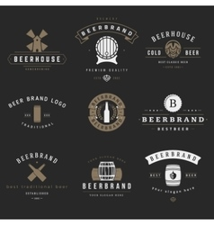 Vintage beer brewery logos emblems labels vector image