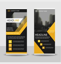 yello black roll up business brochure flyer banner vector image vector image