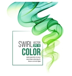Abstract green swirl background vector image
