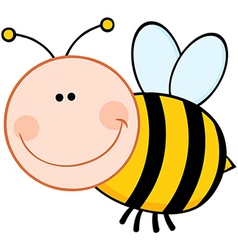 Bumble Bee Cartoon Mascot Character Flying vector image