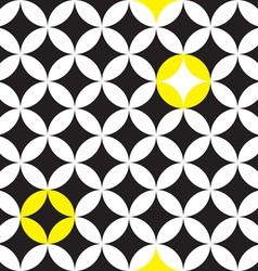 circle star pattern vector image vector image