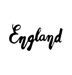 england hand lettering isolated on white vector image vector image