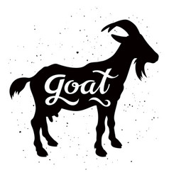 goat silhouette 002 vector image vector image