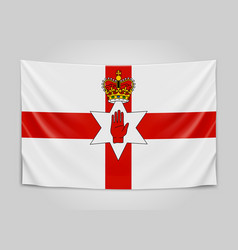 hanging flag of northern ireland northern ireland vector image vector image
