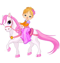 Lady on horse vector image vector image