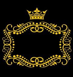 medieval frame vector image