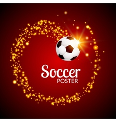 Soccer abstract background poster football design vector image