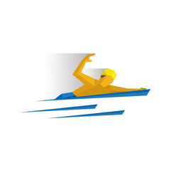 swimmer in the water vector image
